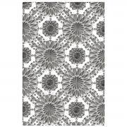Sizzix 3-D Texture Fades Embossing Folder - Mini Kaleidoscope by Tim Holtz