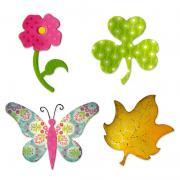 Sizzix Bigz Die - Butterfly, Flower, Leaf & Shamrock