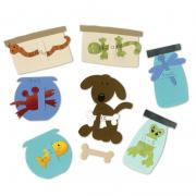 Sizzix Bigz Die Set - Pet Shop Flashcards (4 Die Set)