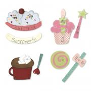 Sizzix Bigz Die Set - Sweet Treats Flashcards (4 Die Set)