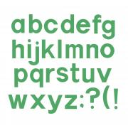 "Sizzix Bigz Alphabet Set 7 Dies - Block 1 1/2"" Lowercase Letters & Punctuation"