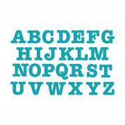 "Sizzix Bigz Alphabet Set 26 Dies - AllStar 3 1/2"" Capital Letters"