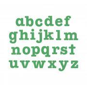 "Sizzix Bigz Alphabet Set 26 Dies - AllStar 3 1/2"" Lowercase Letters"