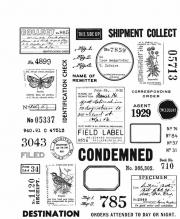 Field Notes by Tim Holtz - Cling Mount Stamps - Stampers Anonymous