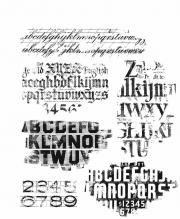 Stampers Anonymous Faded Type by Tim Holtz