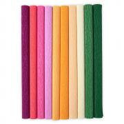 "Sizzix Surfacez - Crepe Paper, 12"" x 24"", Color Splash, 10 Sheets"