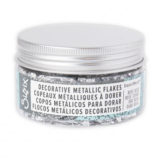 Sizzix Effectz - Decorative Metallic Flakes, Silver, 0.8g