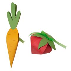 3-D Carrot & Strawberry Boxes