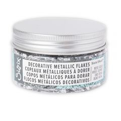 Sizzix Effectz - Decorative Metallic Flakes, Silver, 0.8g