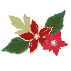 Sizzix Framelits Die Set 6PK w/Stamps - Seasonal Flowers