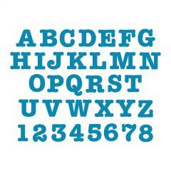"Sizzix Bigz Alphabet Set 9 Dies - AllStar 1 1/2"" Capital Letters & Numbers"