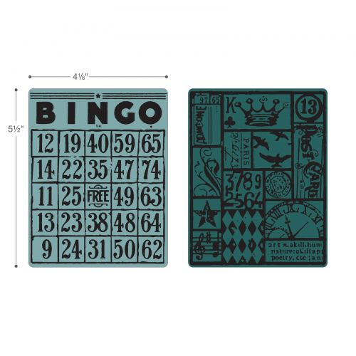 Tim Holtz Texture Fades Embossing Folders Bingo And Patchwork Set