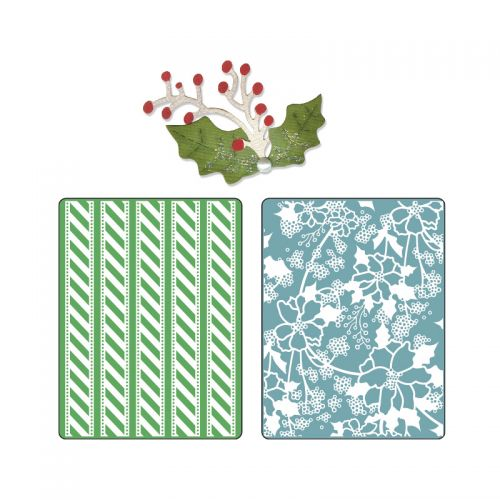 Basic Grey Christmas Embossing Folders with Dies by Sizzix LV