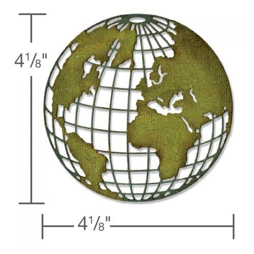 Sizzix Die Cutter Thinlits EARTH GLOBE fits Big Shot