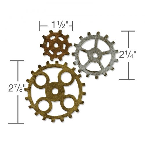 Sizzix Tim Holtz Gadget Gears #2 Die Cut Embellishment