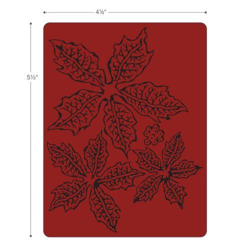 Sizzix Bigz Die W//Texture Fades By Tim Holtz-Layered Tattered Poinsettia 662170