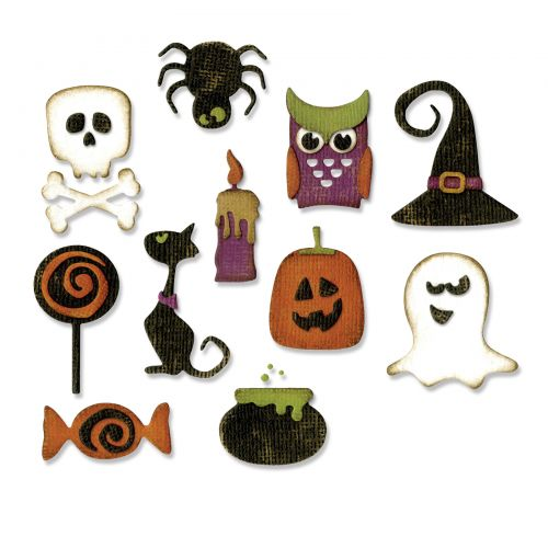 Sizzix Thinlits Die Set 11pk Mini Halloween Things