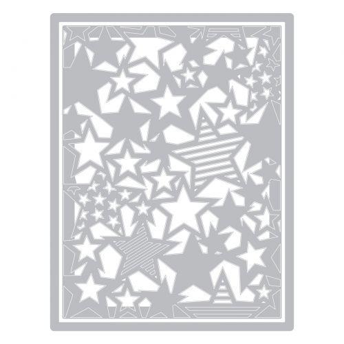 4 St/ück Einheitsgr/ö/ße Sizzix 664732 Thinlits Stanzset Falling Stars