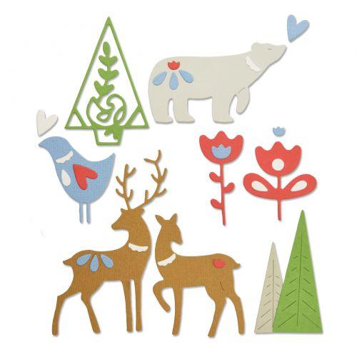 Sizzix Thinlits Die Christmas Tree Card by Lisa Jones  2pc Set