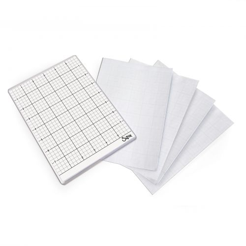 Multicolor 5 Sizzix 663533 Accessory Sticky Grid Sheets 6 x 8 1//2 5 Pack