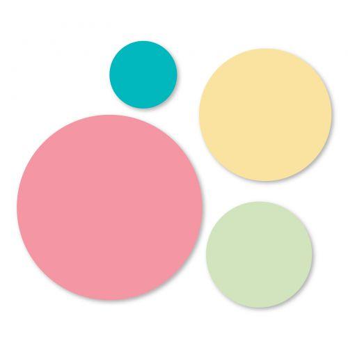"""Sizzix Framelits Die Set 4PK - Circles, 1 1/4"""", 2"""", 2 1/2"""" & 3 1/2"""""""
