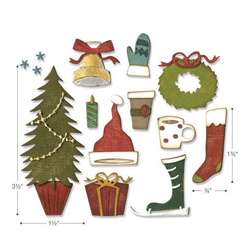 Sizzix DIE Cutter Navidad tradiciones o se adapta a Big Shot Cuttlebug
