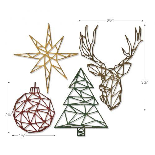Sizzix Christmas Dies 2021 Sizzix Thinlits Die Set 4pk Geo Christmas By Tim Holtz