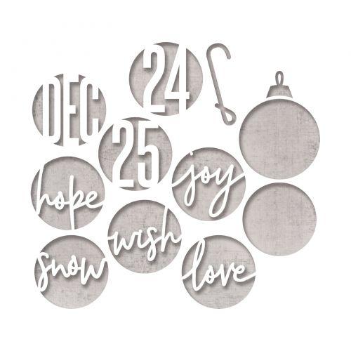 Sizzix Christmas Dies 2021 Sizzix Thinlits Die Set 12pk Circle Words Christmas By Tim Holtz