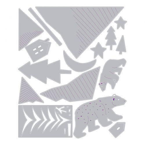 Sizzix Thinlits Die Set 16PK - Arctic Bear