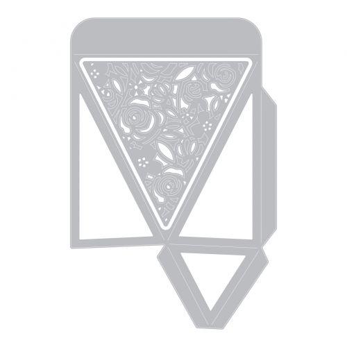 Einheitsgr/ö/ße Sizzix 664493 THINLITS DIES HEXA BOX Cutting dies Saisonales Sechseck
