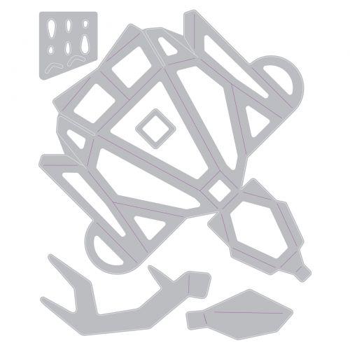 Sizzix Thinlits Die Set 5PK - Origami Reindeer