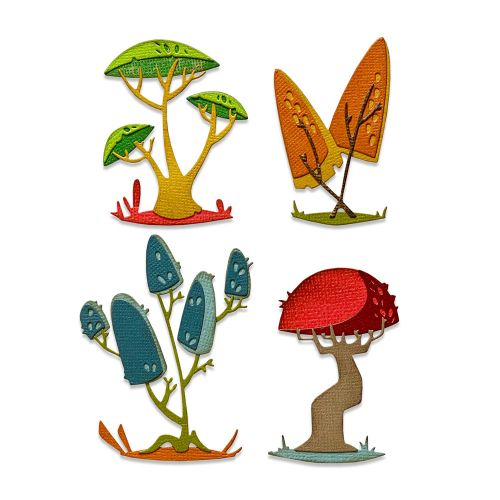 Sizzix Thinlits Die Set 5PK - Funky Toadstools by Tim Holtz