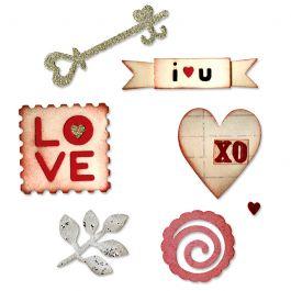 Sizzix Coeurs /& PLUS set 3 medium sizzlits meurt Heart Key Amour Mariage