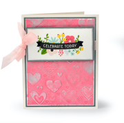 Textured Hearts Card
