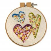 Heart Trio Embroidery Hoop