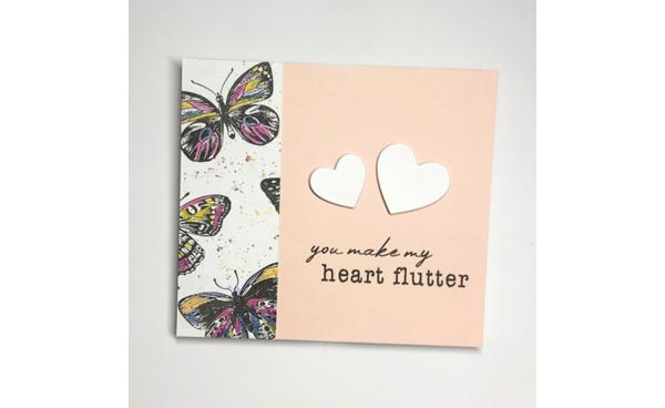 You Make My Heart Flutter Card!