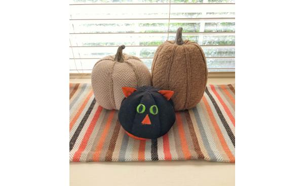 Decorating with Kids: Reversible Cat Pumpkin Softie!