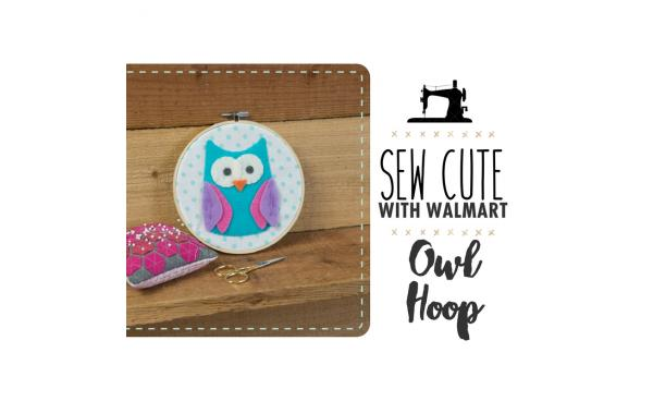 Sew Cute With Walmart: Hooped Owl Home Decor!