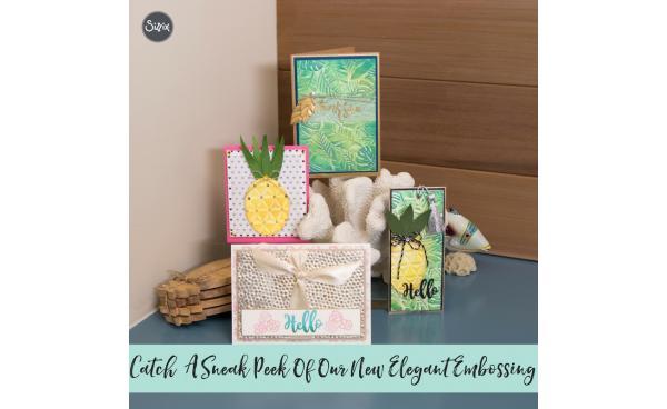 Catch A Sneak Peek At New Elegant Embossing Folders!