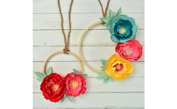 How To Make These Spring Paper Flower Wreaths!