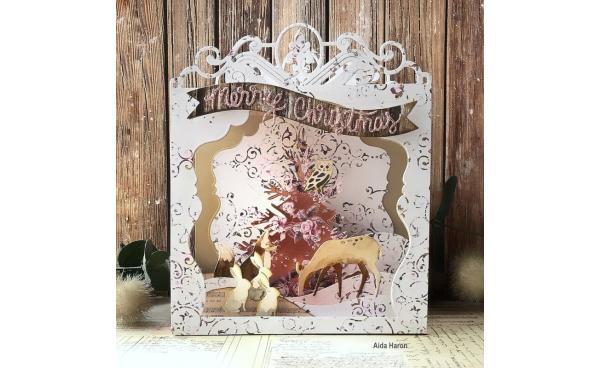 Last-Minute Christmas DIY: Make This Woodland Christmas Shadow Box!