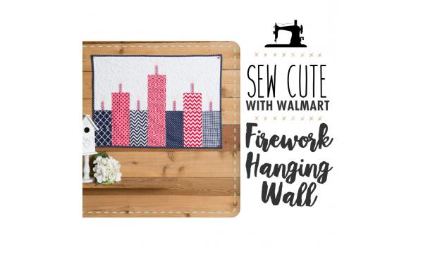 Sew Cute With Walmart: Fireworks Hanging Wall Quilt
