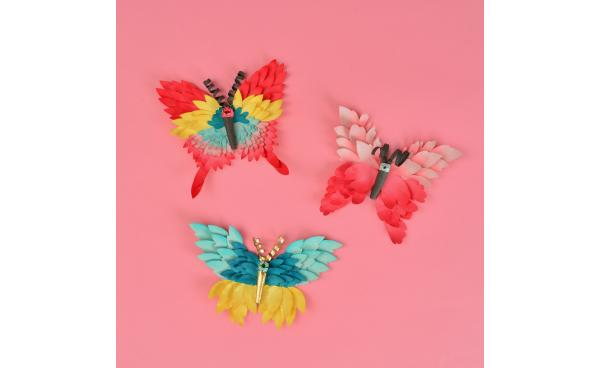 How To Make Paper Art Butterflies
