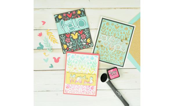 How To Use The Folk Art Stencil 3 Different Ways!