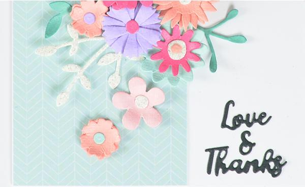 Sizzix: Love and Thanks - Homemade Floral Card!