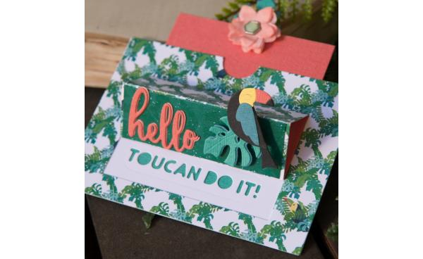 Make Your Own Tropical Gift Card Holder!