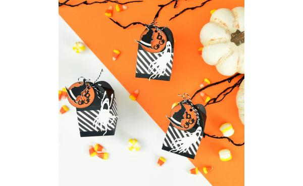 Ghostly Halloween Favor Boxes