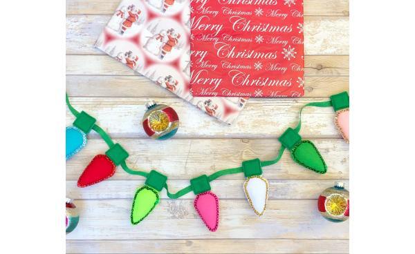 How to Make a Christmas Light Garland!