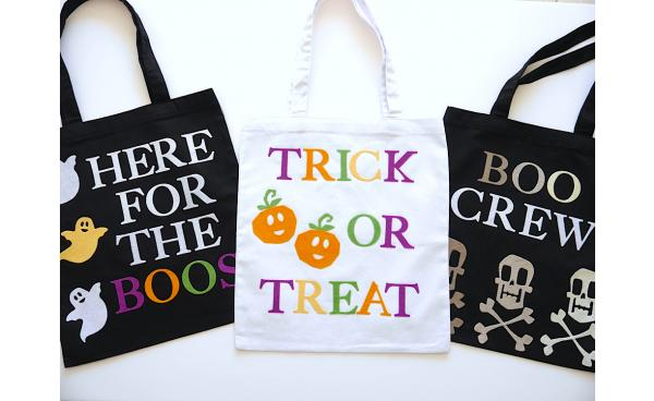 How To Make These Spook-tacular Halloween Tote Bags - Guest Blog by 'Birds Party'