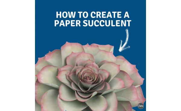 Paper Succulents: The EASIEST DIY Ever!